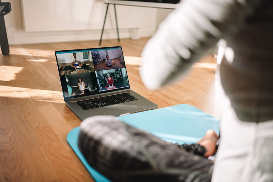 Live-streamed Yoga at Health and Exercise Matters